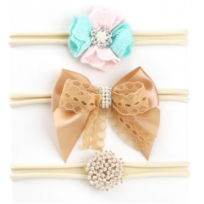 Flower Headbow Supplier hair band Cotton Bow Top Kids baby soft hair bands C-hb183